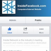 Die mobile Fanpage von InsideFacebook. Bildquelle: http://www.insidefacebook.com/2013/04/23/facebook-redesigns-mobile-business-pages/