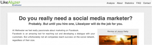 Der LikeAlyzer - Do you really need a social media marketer?