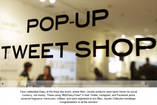 Der Pop-up Tweet Shop